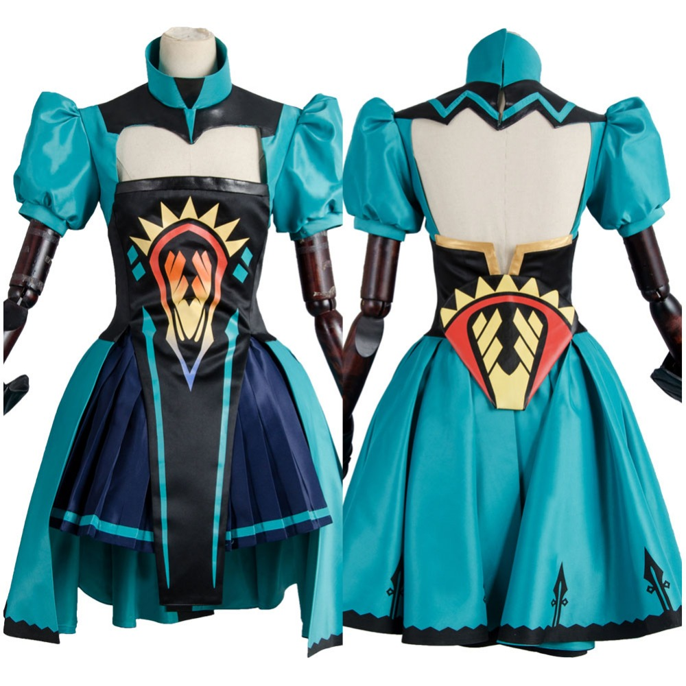 Fate/Apocrypha Archer of Red Atalanta Suit Outfit Gown Dress Cosplay Costume For Halloween Carnival For Adult Women Men Sets