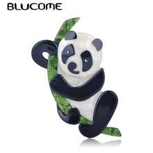 Детская Брошь панда blucome Бамбуковая брошь в форме панды акриловая