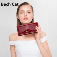 Wallet Female Long Zipper Womens Wallets And Purses Fashion Solid Genuine Leather Female Wallet Hasp Women