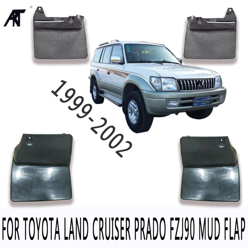 Black Front &Rear Mud Fender Flaps Splash Guard Mudflaps Mudguard Cover Trim For Toyota Land Cruiser prado FZJ 90 99-02 Mud Flap все цены