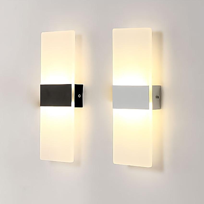 6 Watt 12 Watt Led Acryl Wand Licht AC85-265V Wandleuchte Wohnzimmer ...