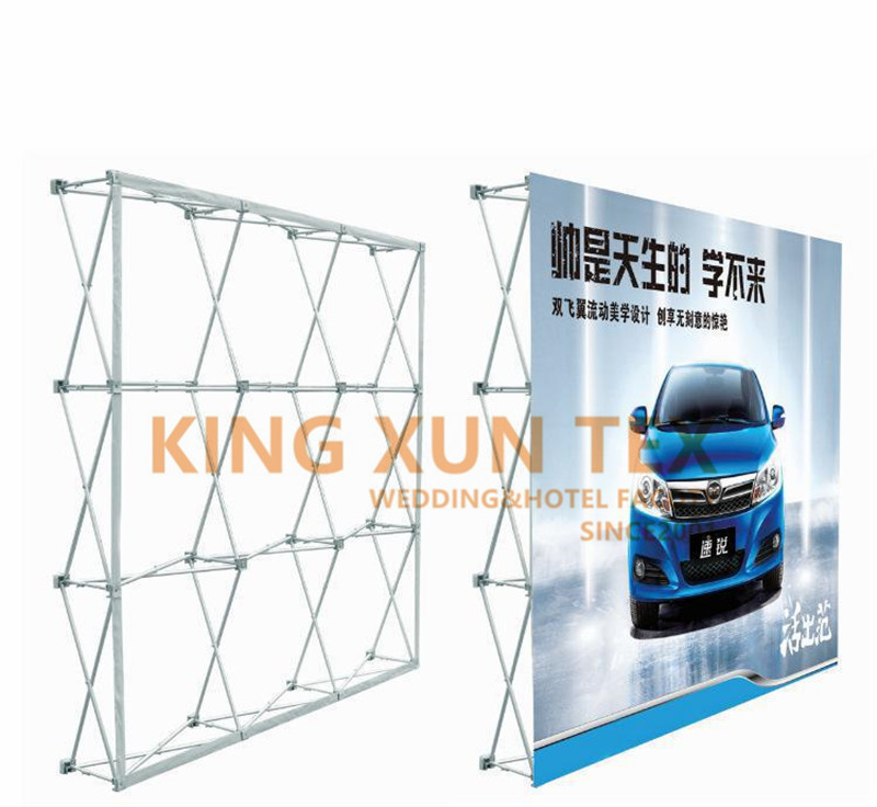 Exhibition Stand Frame : Flower wall stand frame for wedding backdrops straight banner