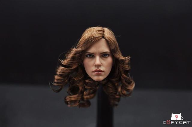 Iron Man Captain America: Civil War 1/6 scale Black Widow Head Sculpt Collectible Figures