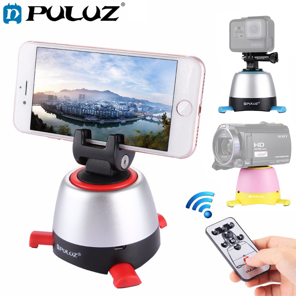 PULUZ Electronic 360 Degree Rotation Panoramic Tripod Head with Remote Controller Rotating Pan Head For font