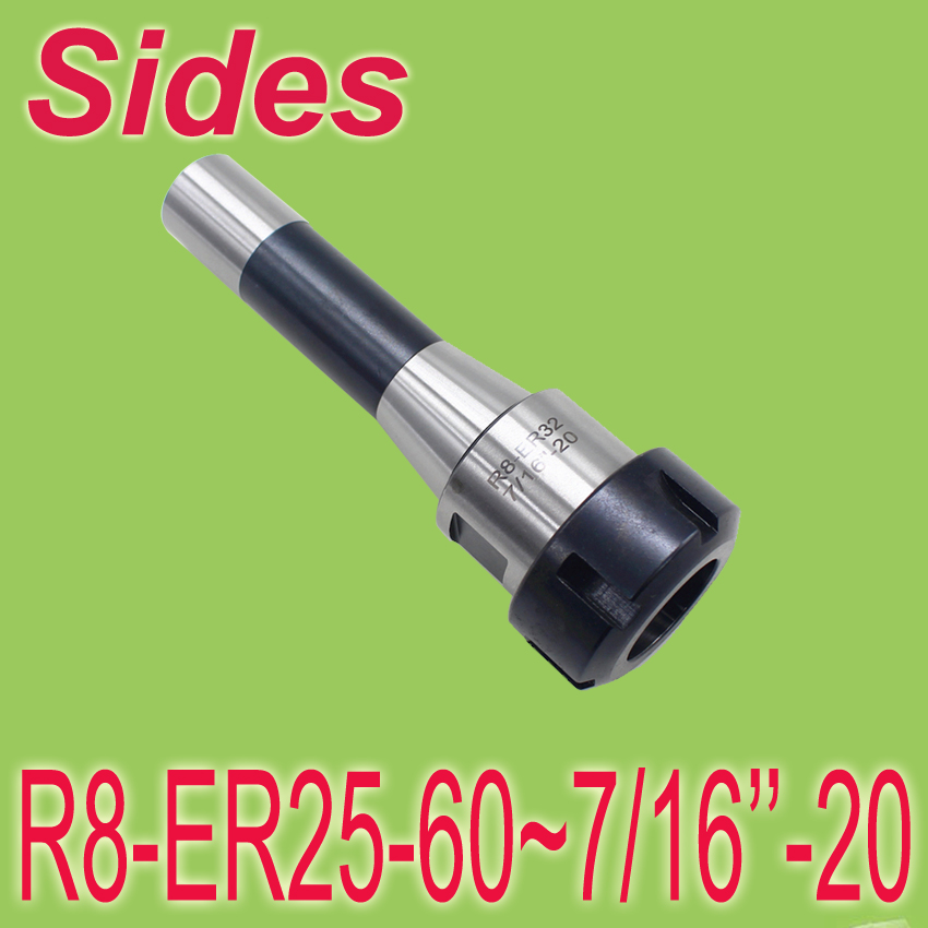 ФОТО Free Shipping  R8 ER25 60mm 7/16' Inch Size Spring Collet Chuck CNC Milling Toolholder