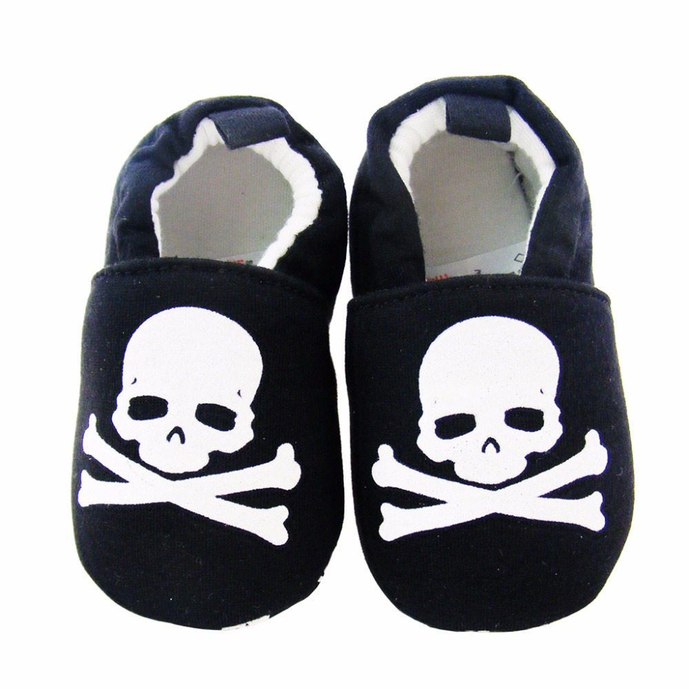 Baby Shoes Brand Loafers Boy Crib Shoes For Girl Cartoon Skull Newborn First Walkers Infant Prewalker Toddler Slippers Kids Gear