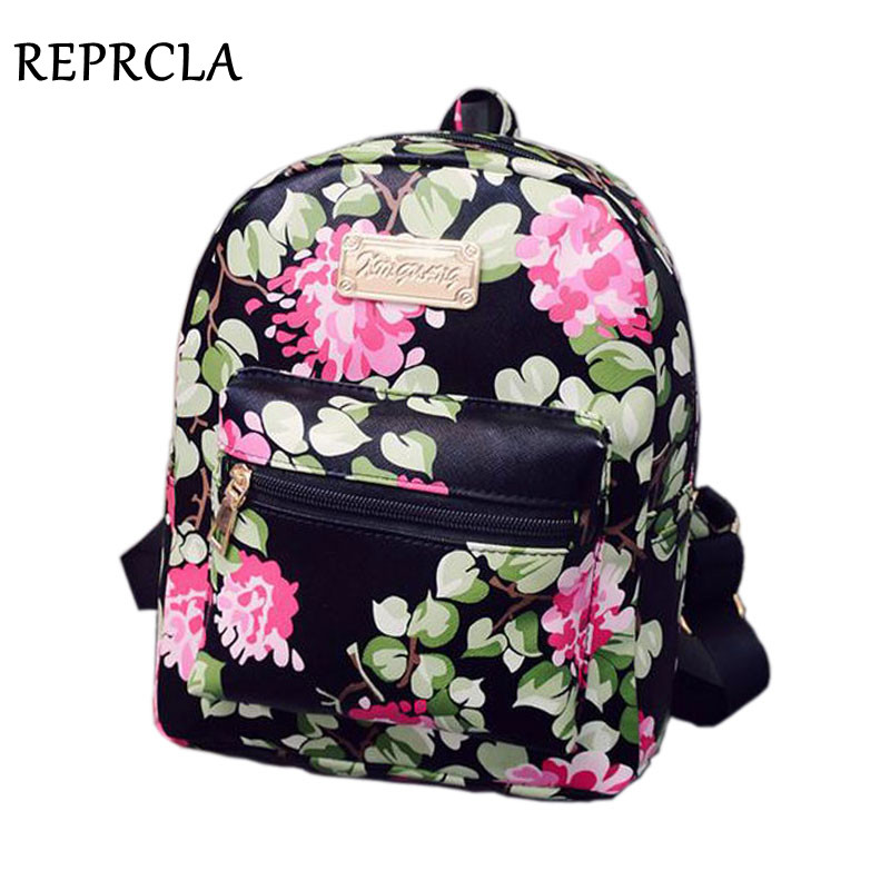 School bags for year 10 - 2017 New Printing Backpack School Bags For Teenagers Pu Leather Women
