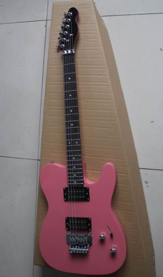 Wholesale New Cnbald Tel electric guitar with Floyd Rose Tremolo In Pink 130315 new arrival high quality red jackson electric guitar china with floyd rose tremolo lefty available