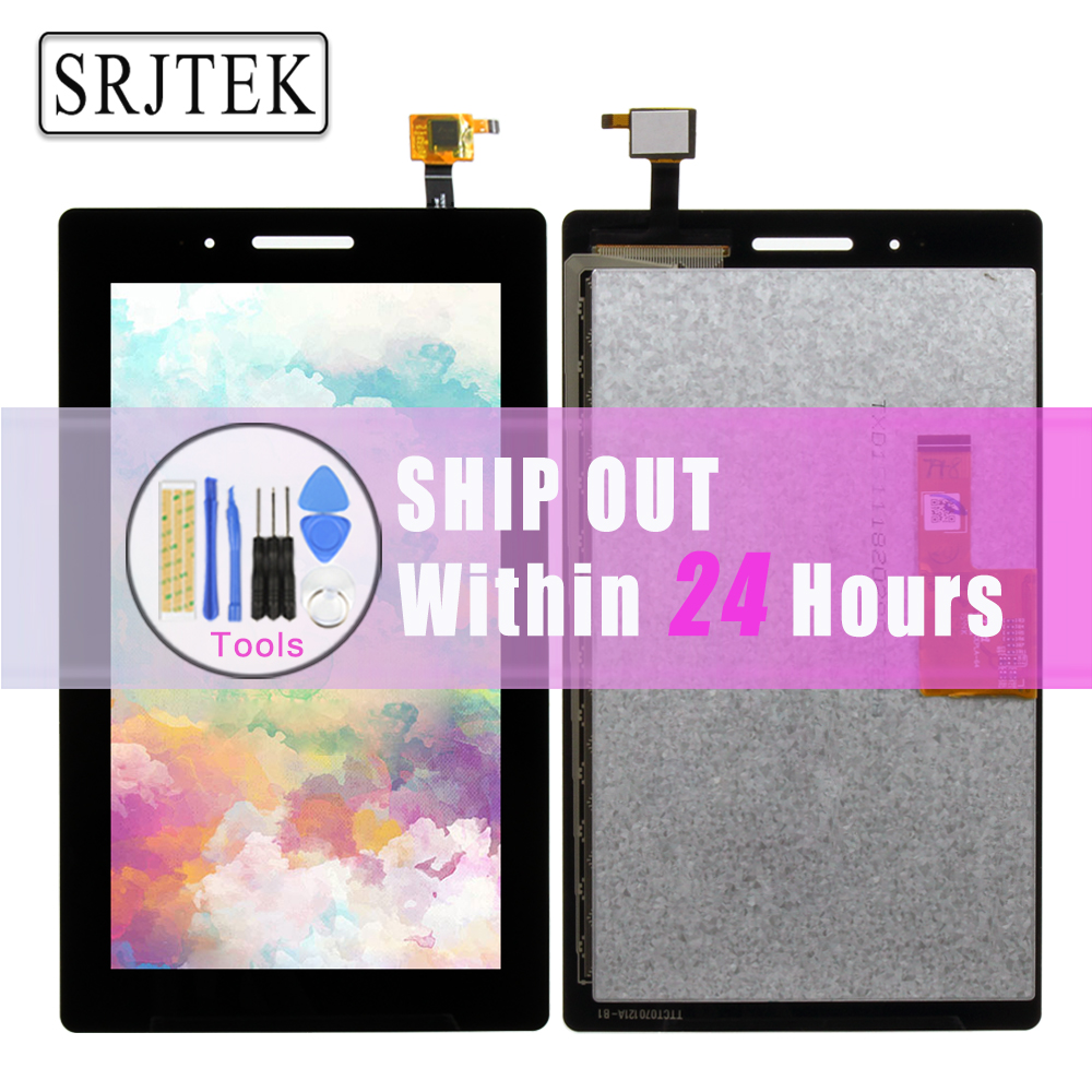 Srjtek 7 For Lenovo TAB 3 Essential 710F Tab3 TB3-710F TAB3-710 Touch Screen Digitizer LCD display Sensor Replacement Black test good 7 inch lcd display screen panel inner screen replacement parts for lenovo tab 3 7 0 710 tab3 710f