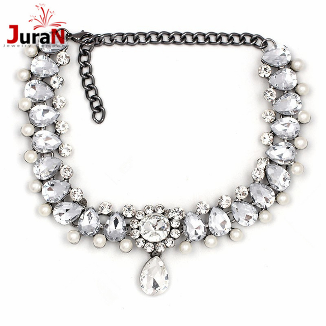 JURAN 2018 Trend NEW FASHION Vintage Classic Choker Necklace Full Crystal Pendant Necklace For Women Girl Gift Statement H1103-1