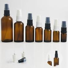цены на (DHL)Free Shipping 10x 50ml amber glass spray bottle, glass bottle, mist sprayer bottle, perfume spray amber container  в интернет-магазинах