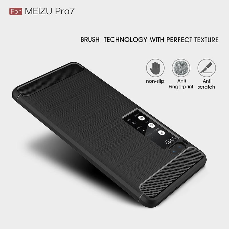 carbon fiber silicon case meizu pro 7 (2)