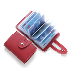 Women Pu Leather Cute 24 Slots Card Holder Wallet Card Organizer Wallet Creditcard Holder Dutch Travel Wallet for Credit Cards
