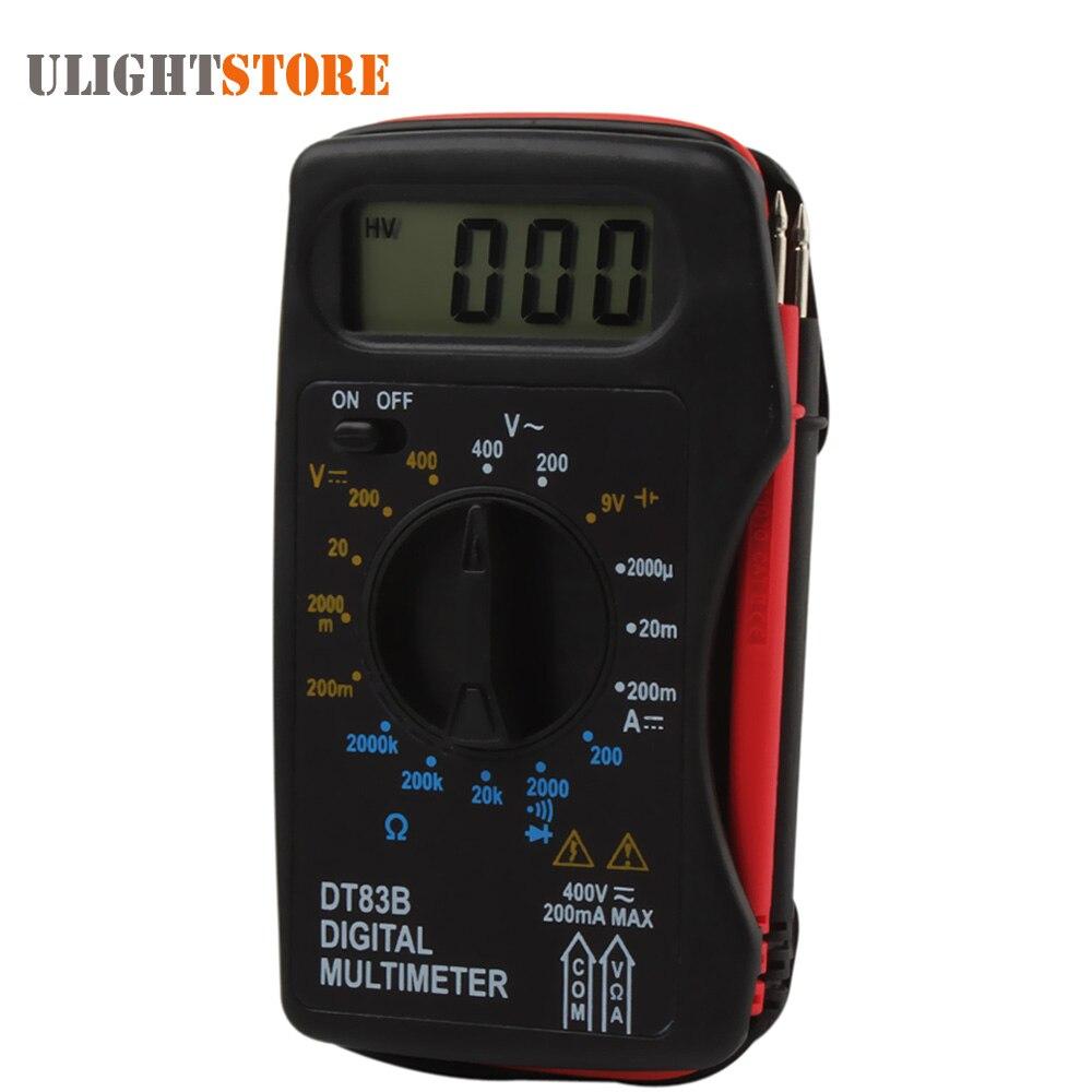 DT83B Tasche Tragbares Digital Multimeter Amperemeter Voltmeter DC AC Widerstand Ohm Spannung Multi Meter Tester mit Summer