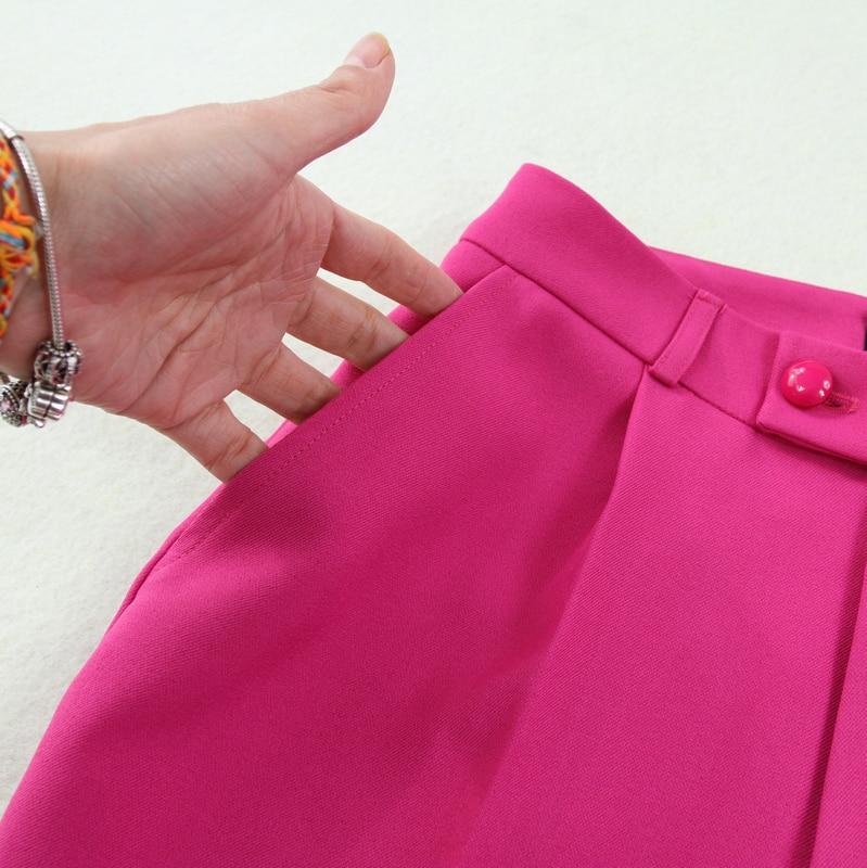 Haute Rouge Ensemble Double Femmes Pantalon Pièces 2019 Printemps Nouvelle Et 2 Rose breasted Costume Taille D'été Entreprise Grande De 6wfqzzO