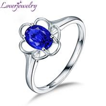 LOVERJEWELRY 14 к белое золото Овальный Танзанит кольца для hollowen ювелирные изделия для рождественской вечеринки подарок хорошее качество драгоценный камень женское кольцо