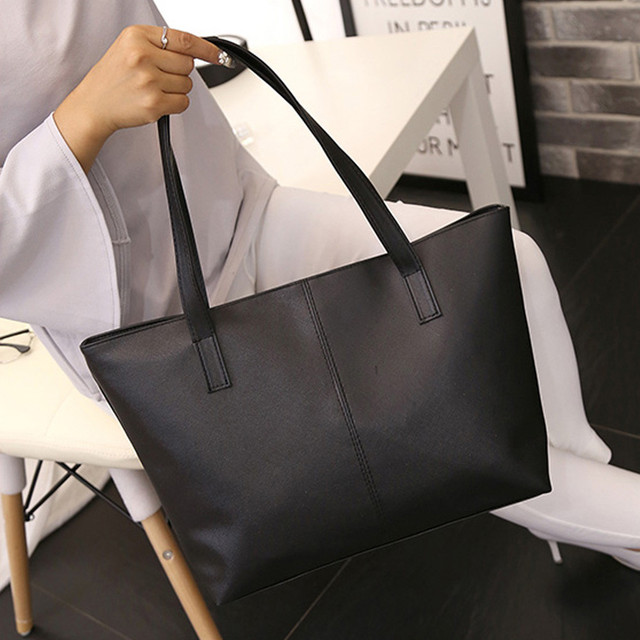 ee663dd2de Fashion women s handbags Solid Zipper Flap bag Ladies Leather Shoulder Bag  Celebrity Tote Purse Large Travel