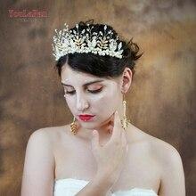 YouLaPan HP196 Wedding Headwear Tiara Beaded Hair Accessories Bride Crown Jewelry