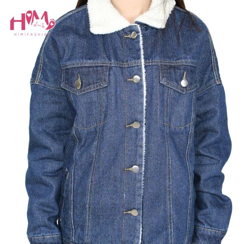 2016 New Fashion Winter Korean Edition Thickening And Cotton Denim Cotton Female Loose Jacket  4