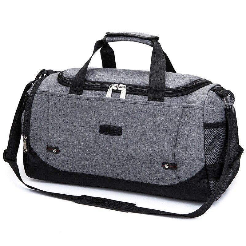 Hot Waterproof Nylon Travel Handbag Men Fashion Carry On Weekend Bags Vintage Casual Duffel Shoulder Bags Large Overnight Bag