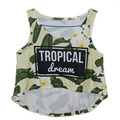 Newest Tank Vest Sexy 3D Yellow tropical Floral Print Funny Short Casual Summer Cool Tank Tops Vest Crop TOPS For Girl Outwear