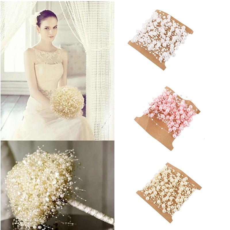 10M ABS Artificial Pearl Beads Chain Strand Garland Wedding Hair Decor Casamento Mariage