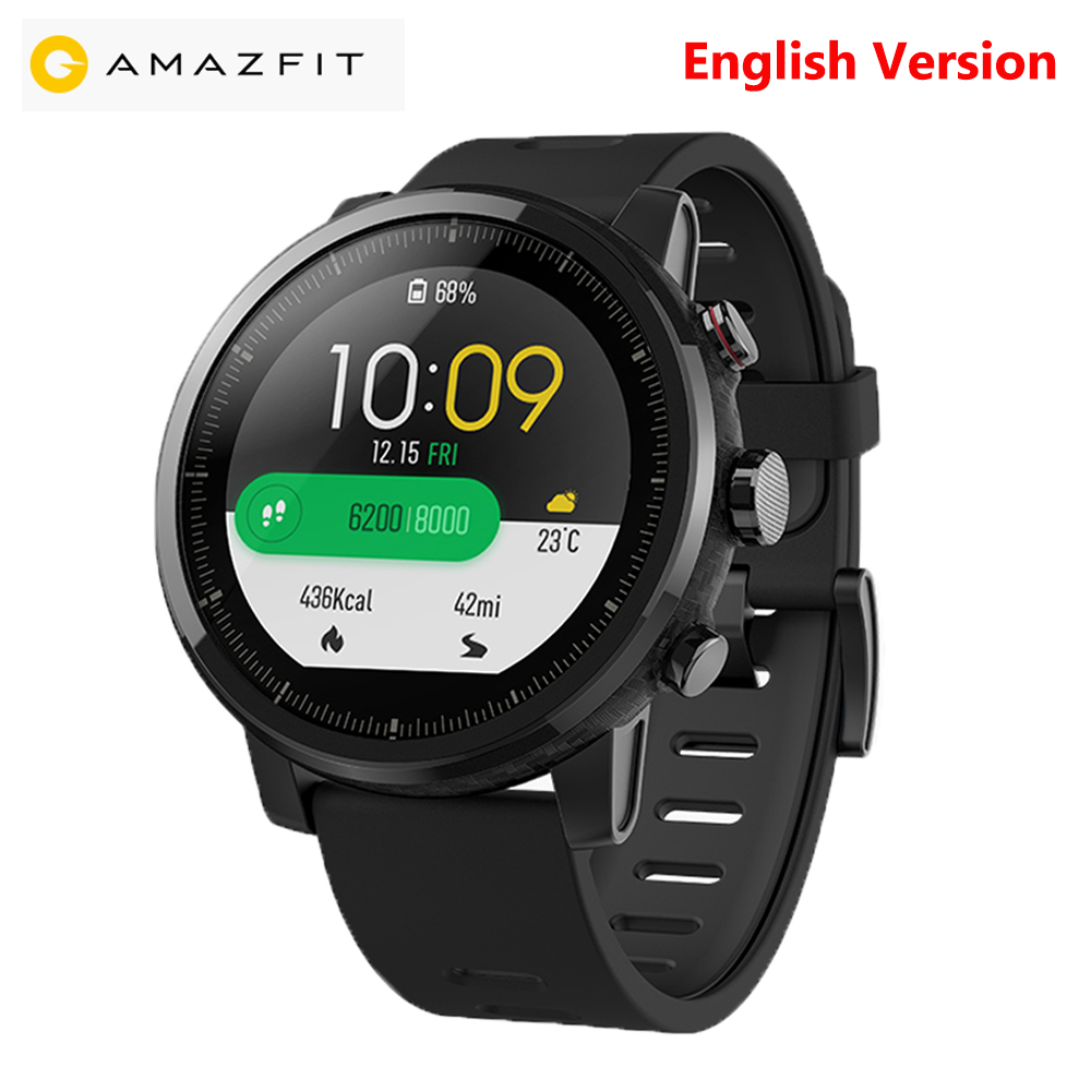 xiaomi Huami Amazfit 2 Sports Smart Watch 2 GPS 5ATM Heart Rate GPS Waterproof Anti-lost Bluetooth Smartwatch English Version