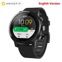Xiaomi Huami Amazfit 2 спортивные Смарт часы 2 gps 5ATM сердечного ритма gps Водонепроницаемый anti потерял Bluetooth Smartwatch английский версия