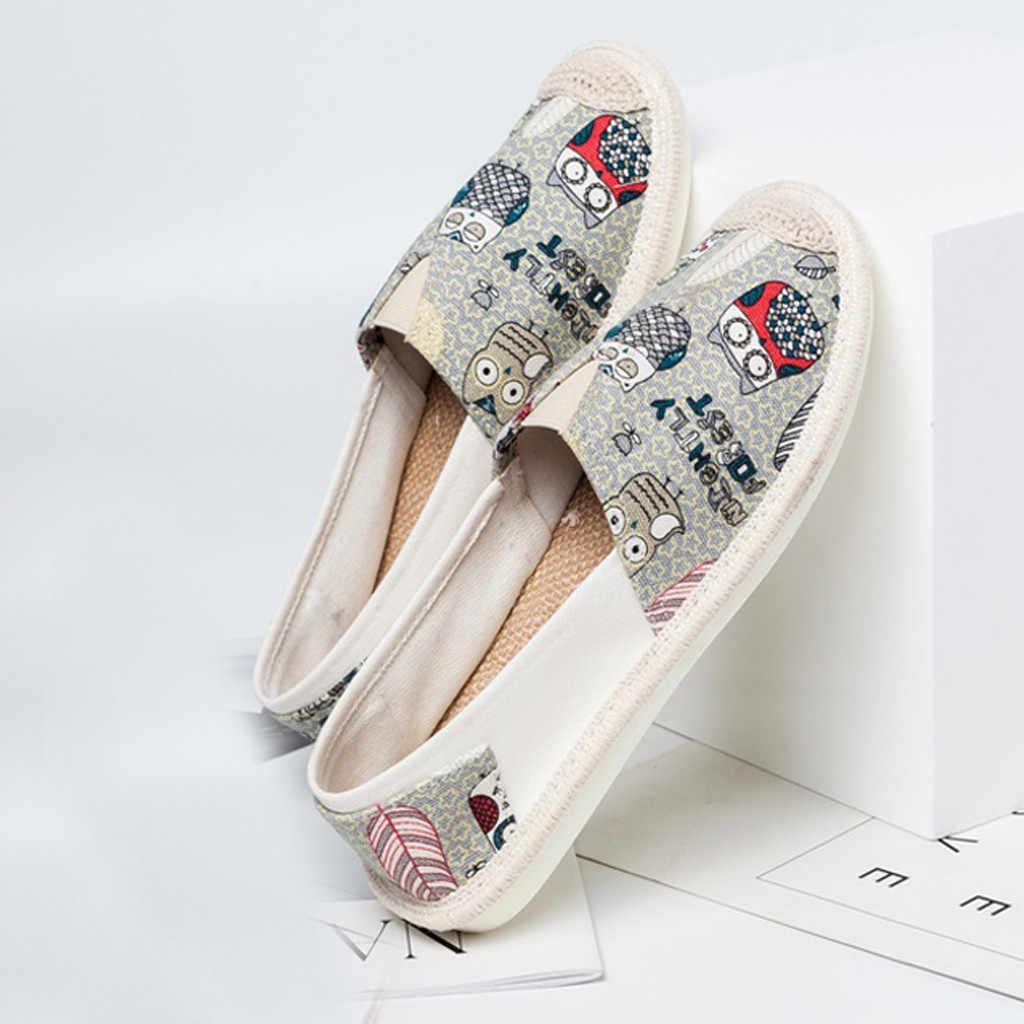 2019 nouvelles chaussures femme respirant toile chaussures à semelles épaisses plat unique décontracté Sport Shoeszapatillas mujer
