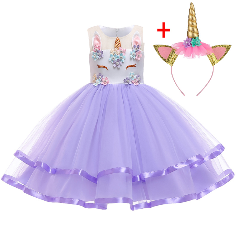 HTB1Y1gVXU rK1Rjy0Fcq6zEvVXai Unicorn Dresses For Elsa Costume Carnival Christmas Kids Dresses For Girls Birthday Princess Dress Children Party Dress fantasia