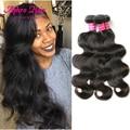 Aphro волосы бразильский объемная волна 3 связки человеческих волос 7А бразильского виргинские волос объемная волна tissage bresilienne норки бразильский волос