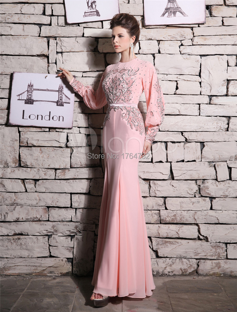 Gorgeous Long Sleeve Mermaid Evening Dresses 2015 Famous Desiger ...