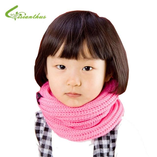 Baby Knitting Scarves 5 Colors in Stock 2017 New Style Designer Muffler Brand Scarf Kids Girl Autumn Winter Neck Warmer Gift