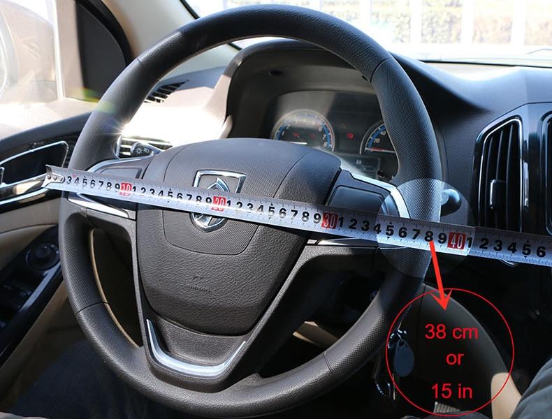 pour la direction de voiture en fibre de carbone 37-38cm Decoratio Couverture de volant de voiture respirante en cuir PU anti-d/érapant couvre la couverture de direction automatique universelle