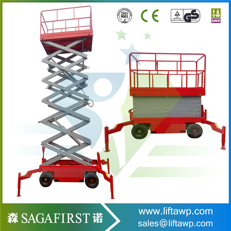 Cheap Aerial Work Platform Full Electric Scissor Lift Design