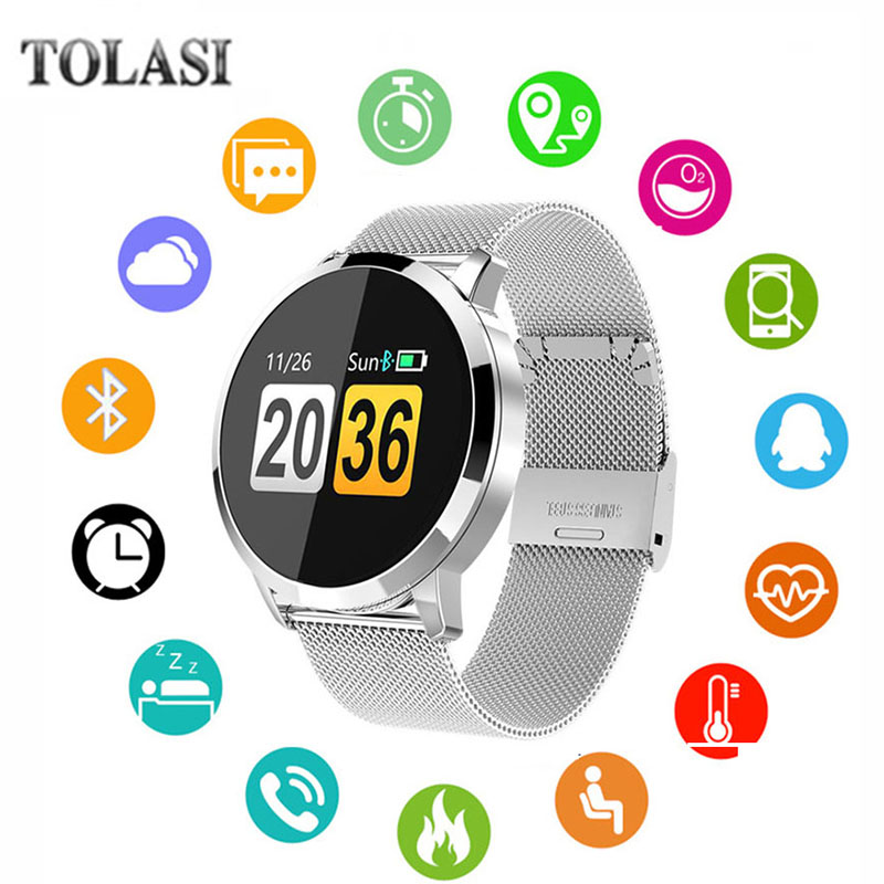 Q8 Fitness Tracker Women Smart Watch Men Smartwatch IP67 Waterproof Bracelet Heart Rate Monitor Sport Wristband For Android IOS colmi v11 smart watch ip67 waterproof tempered glass activity fitness tracker heart rate monitor brim men women smartwatch