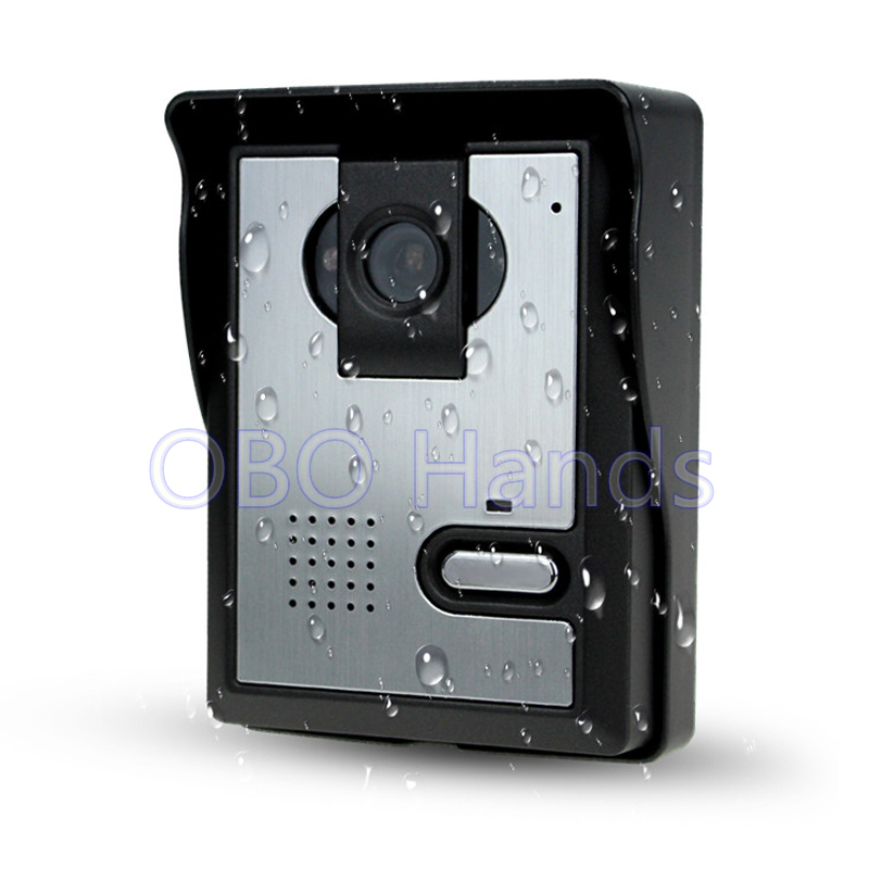 Free Shipping Video Door Phone Intercom System Video Door Bell Outdoor Camera With CMOS IR Night Vision For home/apartment 7inch video door phone intercom system for 5apartment tft lcd screen 5 flat indoor monitor with night vision cmos outdoor camera