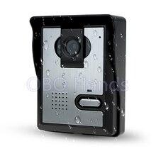 Ücretsiz Kargo Görüntülü Kapı Telefonu interkom sistemi Video kapı zili Açık Kamera Ile CMOS IR Gece Görüş ev/daire için