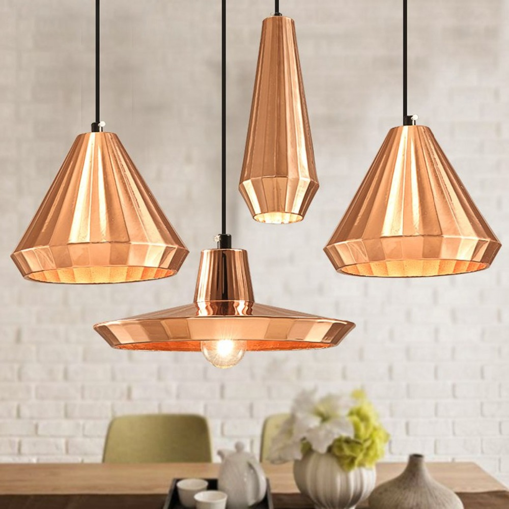 Copper Color TOM Nordic Loft Pendant Light Elegant DIY Vintage Warehouse Bar Cafe Droplight Adjustable Art Gife Lighting Decors In Lights From