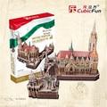Cubicfun 3D Puzzle Toys 176PCS Hungary Church Model MC128h Children's Gift