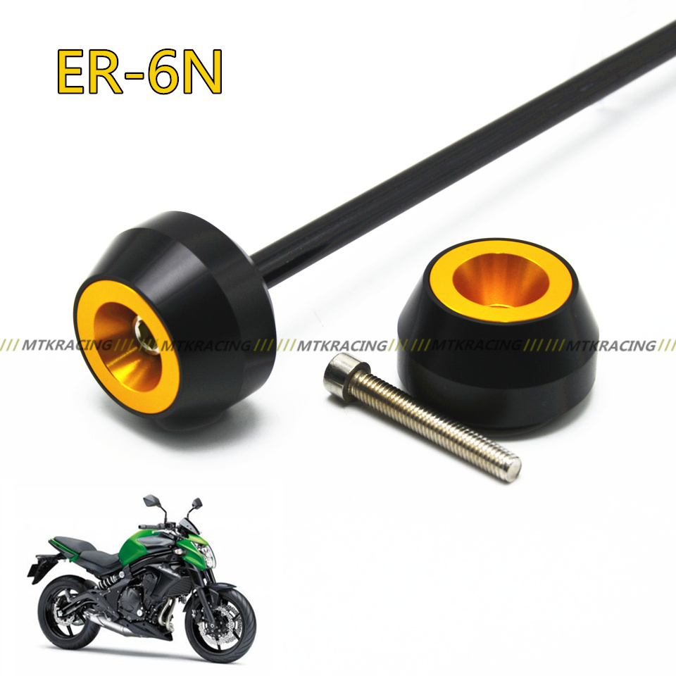 Free shipping for KAWASAKI ER6N  2012-2015 CNC Modified Motorcycle Front and rear wheels drop ball / shock absorber free shipping 6 pcs motorcycle front