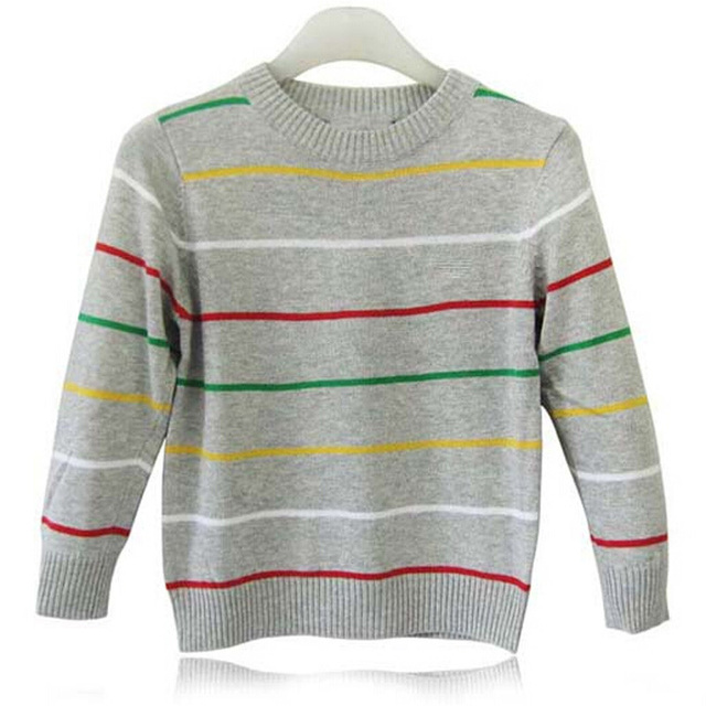 Boy Sweater High Quality Kids Sweater 2016 Autumn Winter Boy Pullover Children Sweaters Boys Stripe Hedging Knitting Top For Boy