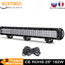 """25"""" 162W Led Bar Offroad Dual Row Led Light Bar for Tractor Boat Off Road 4WD 4x4 Truck SUV ATV Driving 12V 24V"""