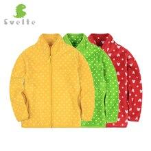 Svelt 2017 Printemps Automne Hiver pour Enfants Enfants Filles Polka Dot Doux Polaire Veste Manteau Survêtement Cardigan Vêtements Sweat