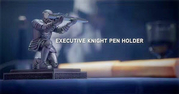 Executive Knight Pen Holder Armor Soldiers Pen Holder The High-end Business Pen Rack Free shipping