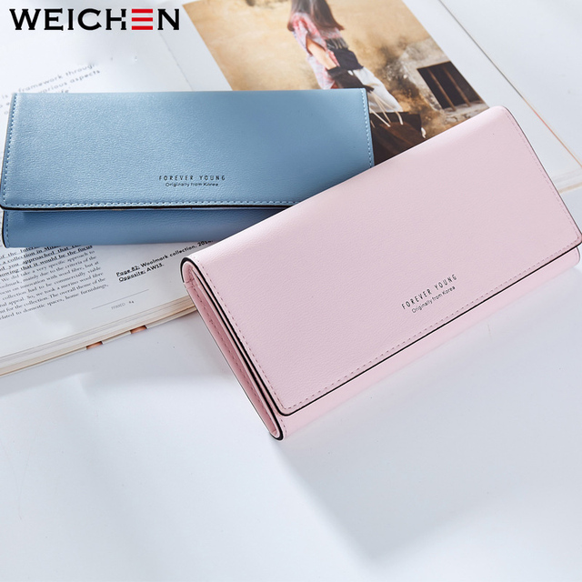 WEICHEN Many Departments Long Wallet Women Brand Ladies Purses Card Holder Zipper Coin & Phone Pocket Female Wallets Clutch HOT