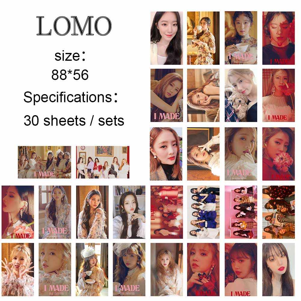 30Pcs/set KPOP IZONE Album Photo Card GIDLE Girls Ablum Senorita Photocards  Self Made Lomo Cards