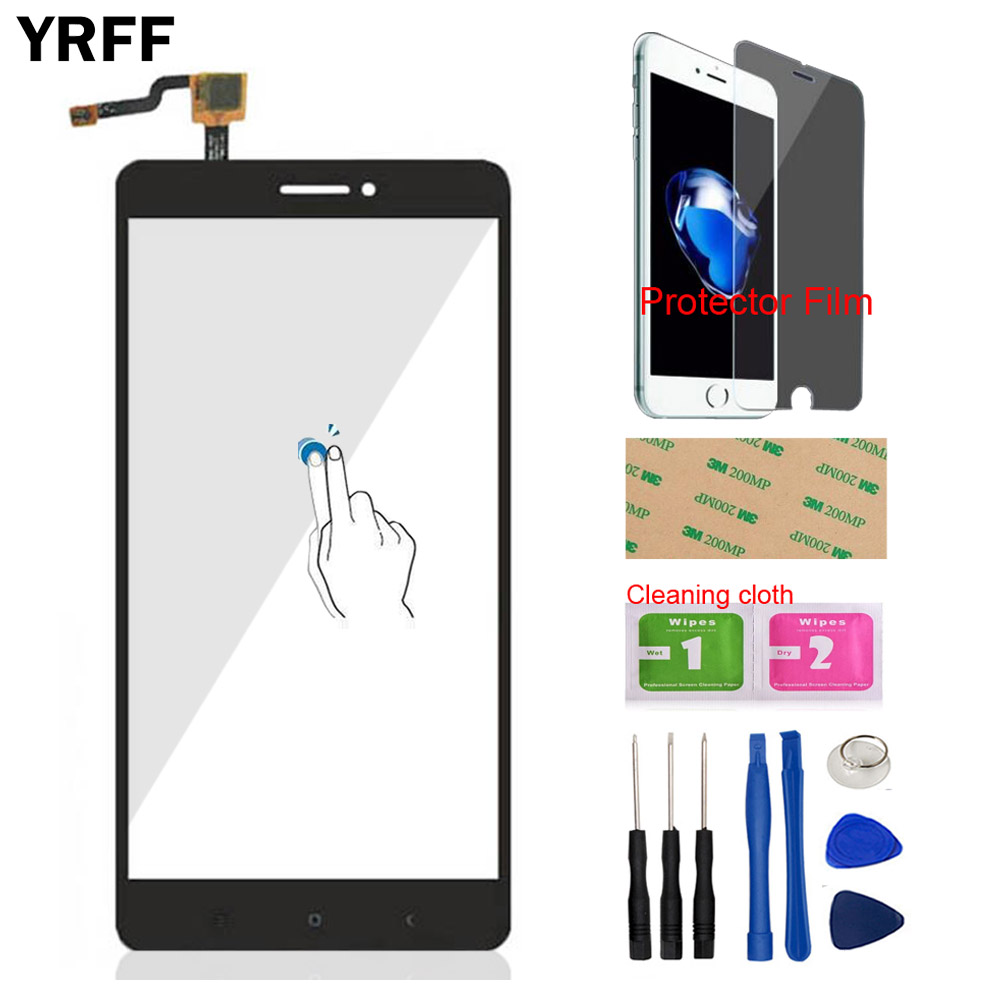 Mobile Phone Touch Panel For Xiaomi Max 2 / Mi Max 2 Front Touch Screen Digitizer Panel Glass Sensor Protector Film Adhesive