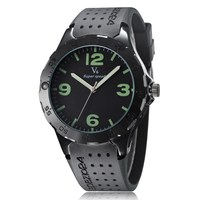 V6 Fashion Casual Men S Sport Watch Black Silicone Strap Quartz Wristwatch Analog Relogio Masculino Mens