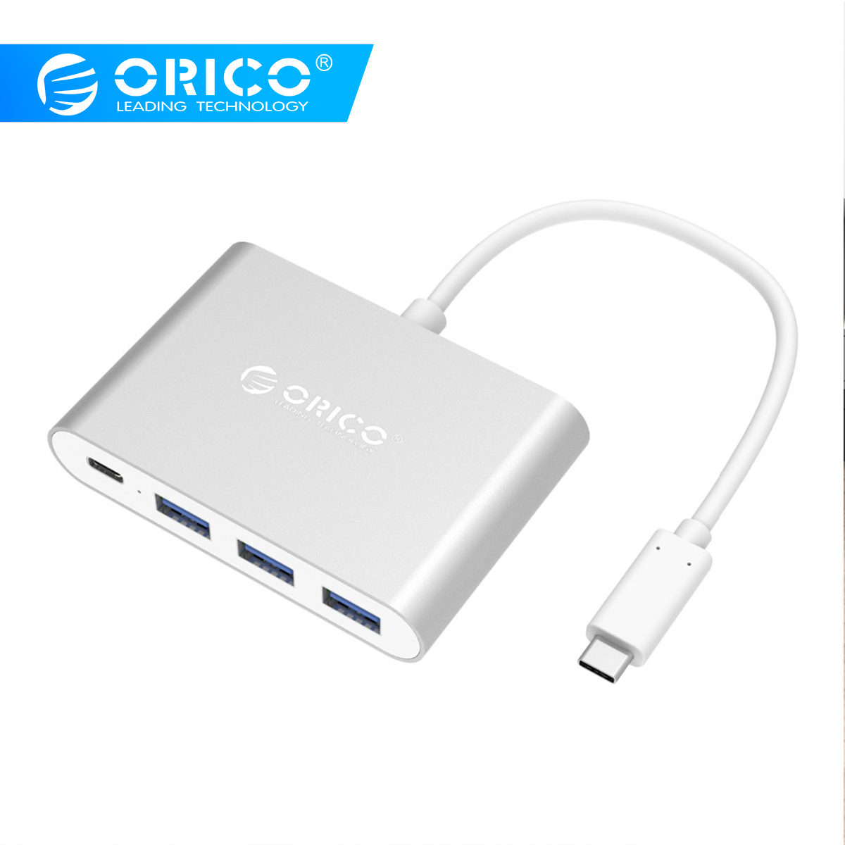 ORICO Aluminum Type-C to USB PD Charging HUB USB3.1 Gen1 5Gbps High Speed AluminumORICO Aluminum Type-C to USB PD Charging HUB USB3.1 Gen1 5Gbps High Speed Aluminum